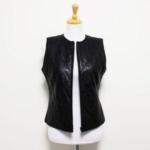 Mix It Mixit Black Quilted Leather Vest 4